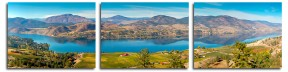 Over Skaha Lake 4357-2496 Triptych