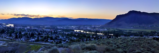 Dusk Over Kamloops 5020